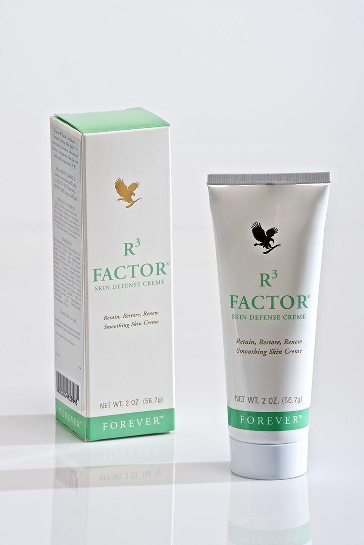 R3 Factor, crema per il rinnovamento della pelle. Questa formula che miscela Aloe Vera e acido Alfaidrossico complesso, libera la pelle dalle cellule morte, stimolando la formazione di nuove cellule per una pelle dall'aspetto rigenerato e più giovane. un naturale fattore protettivo salvaguarda la pelle dagli effetti indesiderati e dannosi causati dal sole.  Contenuto 56,7 gr. (art. 069)