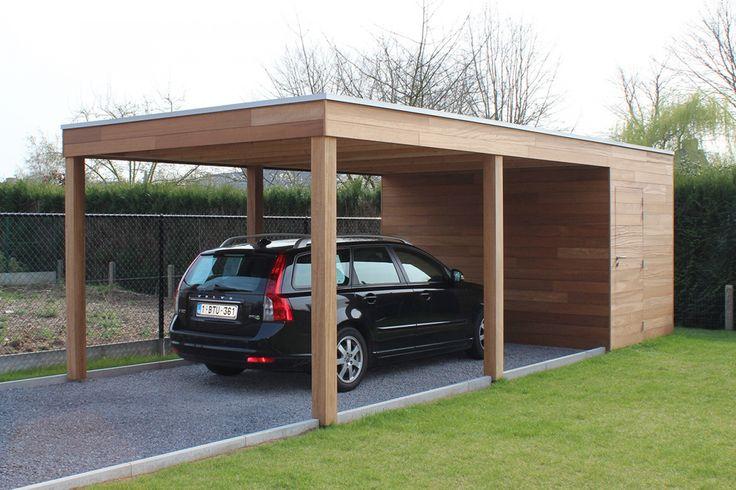 Carport of garage in hout met berging of fietsstalling - Woodstar   Producten op maat, tuinhuizen, poolhoouses, carports   Woodstar: luxe houten tuinhuizen, carports & poolhouses