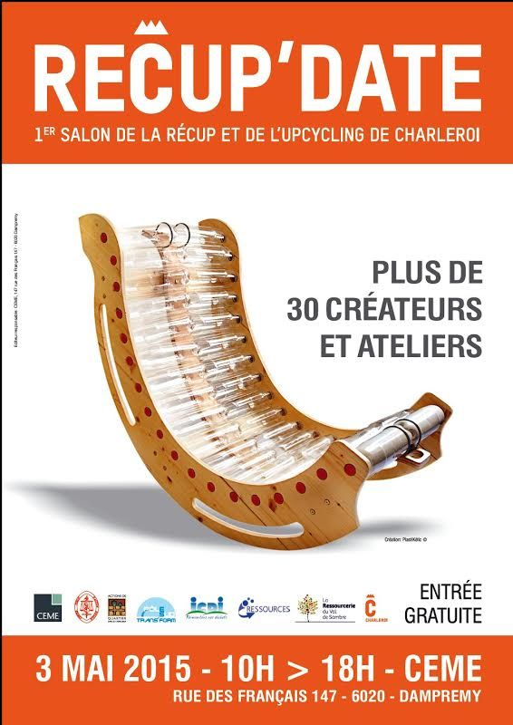 Le rocking chair de PlastiKetic (création du designer Grégory HOOGSTOEL) sur l'affiche officielle du salon Recup'Date