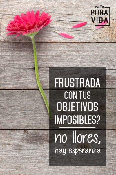 Frustrada con tus Objetivos Imposibles? Hay esperanza
