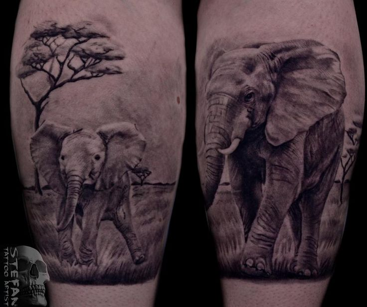 #realistic #blackandwhite #elephants #tattoo #design #tattoo-idea #Dublin #Ireland #studio #parlor #ink