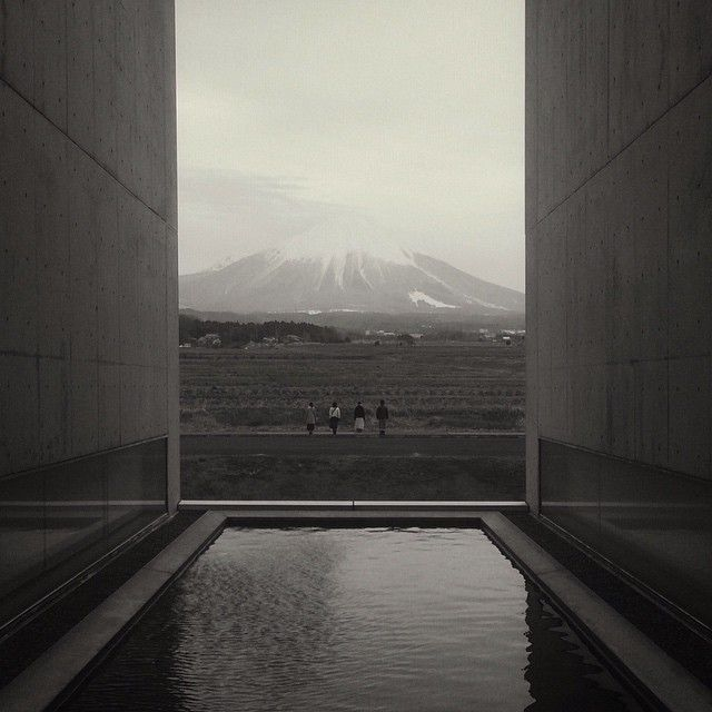 """Mt. Daisen, the view from #ShojiUeda museum of photography, Tottori, Japan. #tottoritottoru #植田正治"""