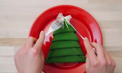 Deze servetjes zijn perfect voor bij het kerstdiner!