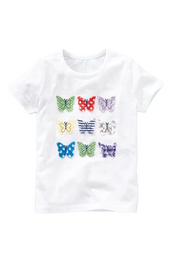 butterfly appliques in rows