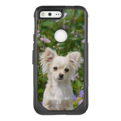 #Cute longhair cream Chihuahua Dog Puppy Pet Photo Google Pixel Case - #chihuahua #puppy #dog #dogs #pet #pets #cute
