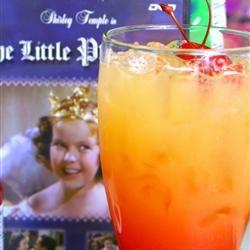 Shirley Temple II — orange juice, 7-UP, grenadine, and maraschino cherries