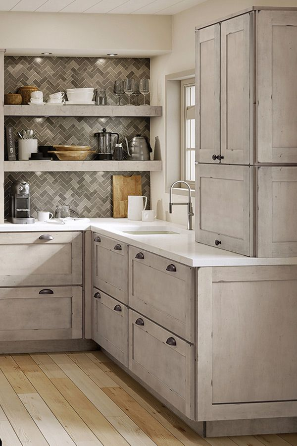 Aged To Perfection Maple Kitchen Cabinets Kraftmaid Kitchen Cabinets Farmhouse Kitchen Design