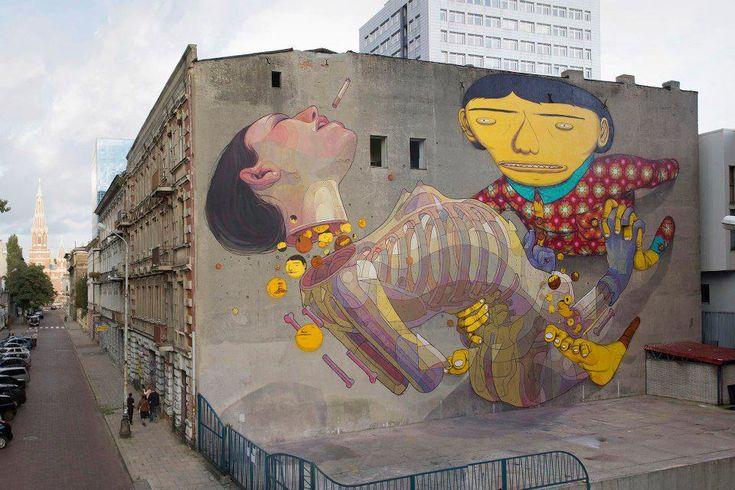 Os Gemeos, Aryz | Łódź | Cropp Sponsored Street Art Festival