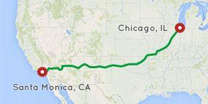 Estrada da rota 66 nos EUA