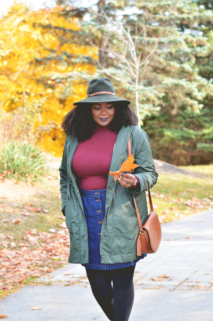 Fashion blogger-plus-fall-outfit-ideas  Burgundy and olive