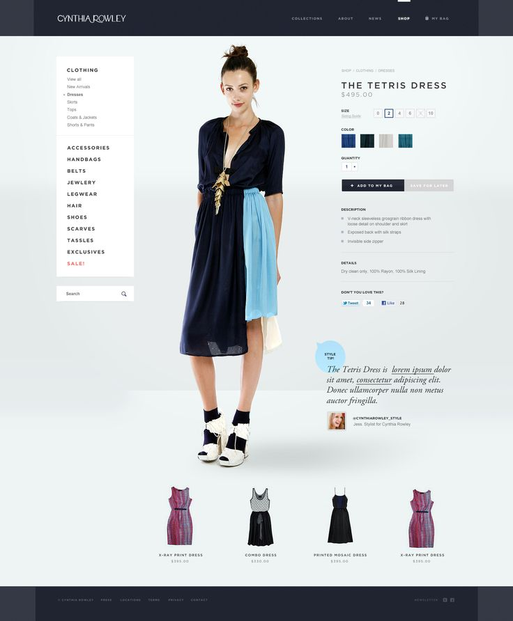 #eCommerce #websitedesign #webdesign #layout #shop #online #fashion #apparel