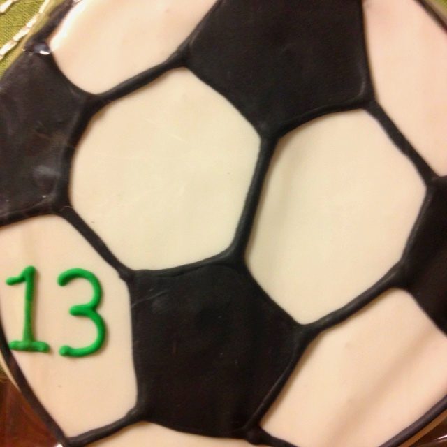 Soccer cookie: Soccer Stuff, Soccer Baking, Soccer Cookies, Soccer Fun