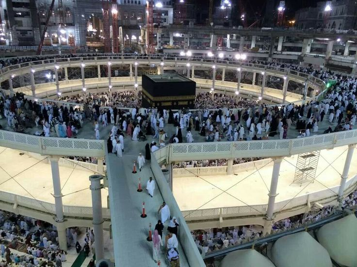 The Ka'aba just before Isha