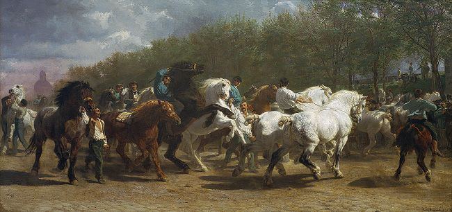 """Rosa Bonheurs """"The Horse Fair"""" was my first """"favorite"""" work of art.  I was a little girl when I got attached to it at The Met...it still ranks up there, if for none other than sentimental reasons..."""