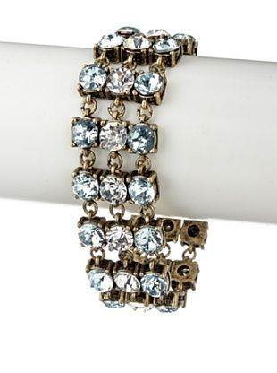 65% OFF Leslie Danzis Blue/Clear Double Row Crystal Moon Bracelet