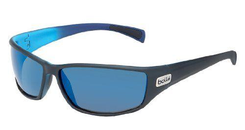 BOLLE PYTHON SUNGLASSES (POLARIZED GB10 OLEO AF LENS MAT BLACK/BLUE FRAME)