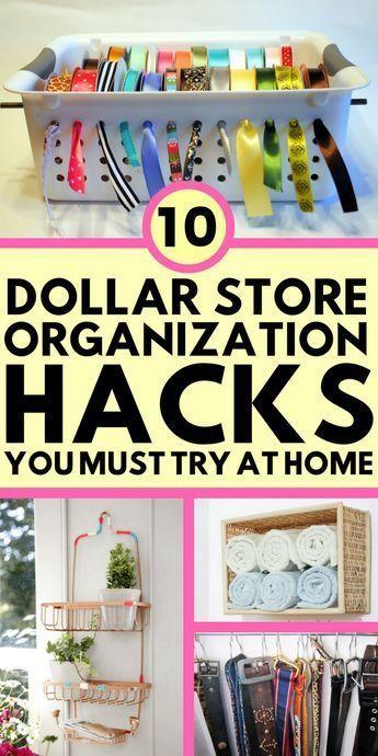 10 DIY Dollar Store Organization Hacks That Are Borderline Genius