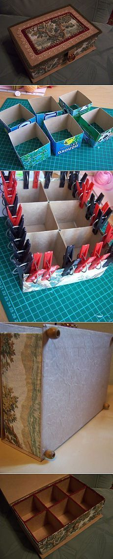 Шкатулка из тетрапаков  Сегодня узнаем как можно сделать такую шкатулку из обычных тетрапаков от молока и небольшого количества дополнительных материалов.