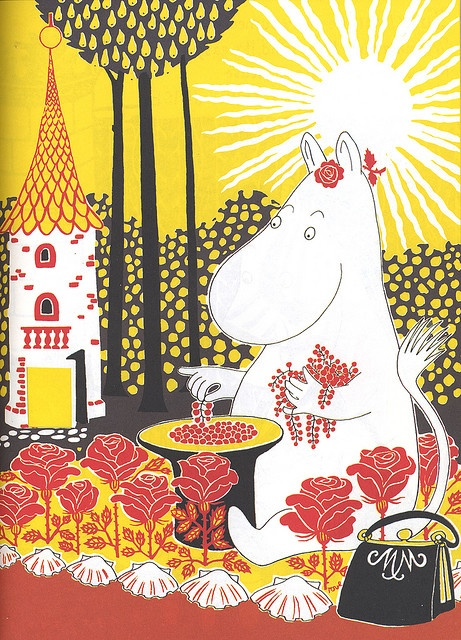 "Illustration from  ""The Book about Moomin, Mymble and Little My "" by Tove Jansson"