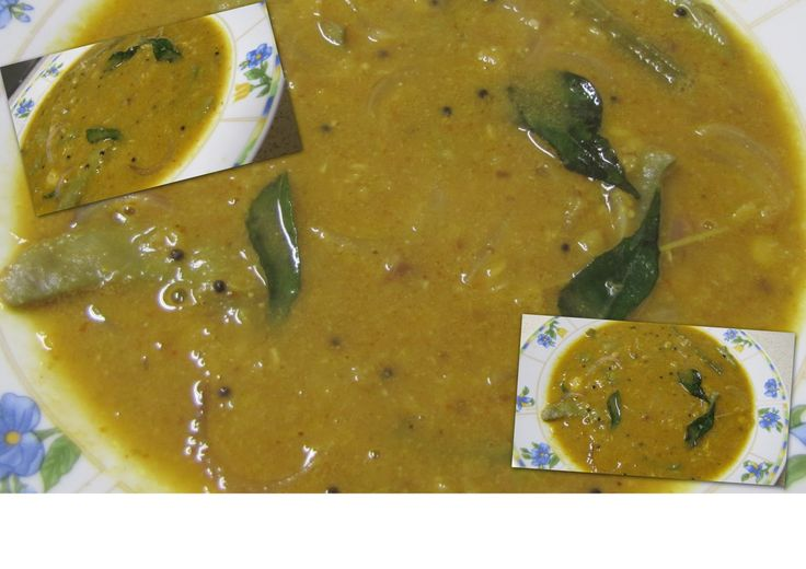 Kitchen Secrets and Snippets: Arachivittta Sambar.This is a type of sambar where we grind all the masala items freshly.