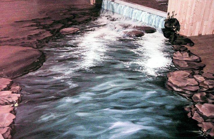 Cascada din acvariu, Cafeneaua Segen, Fagaras 2012