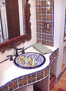 Resultado de imagen para mexican talavera sink in bathroom