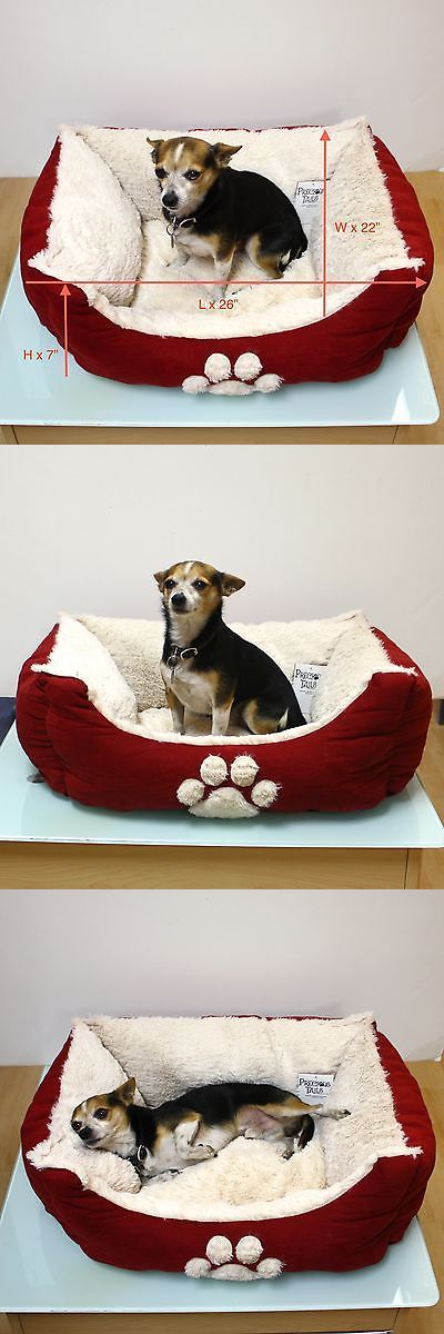 Beds 66762: Dog Pet Cat Puppy Bed Cushion House Soft Warm Cozy Crate Mat Nest BUY IT NOW ONLY: $32.99