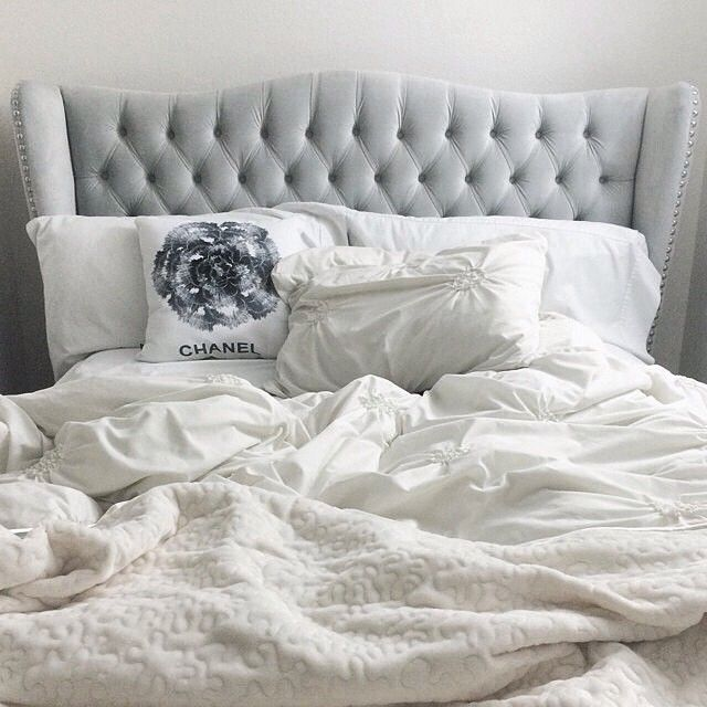 Our Effortlessly Elegant And Z Gallerie Exclusive Jameson Bed Is Picture Perfect In Hausofcolor S Home Beautiful Bedrooms Pinterest Bedroom