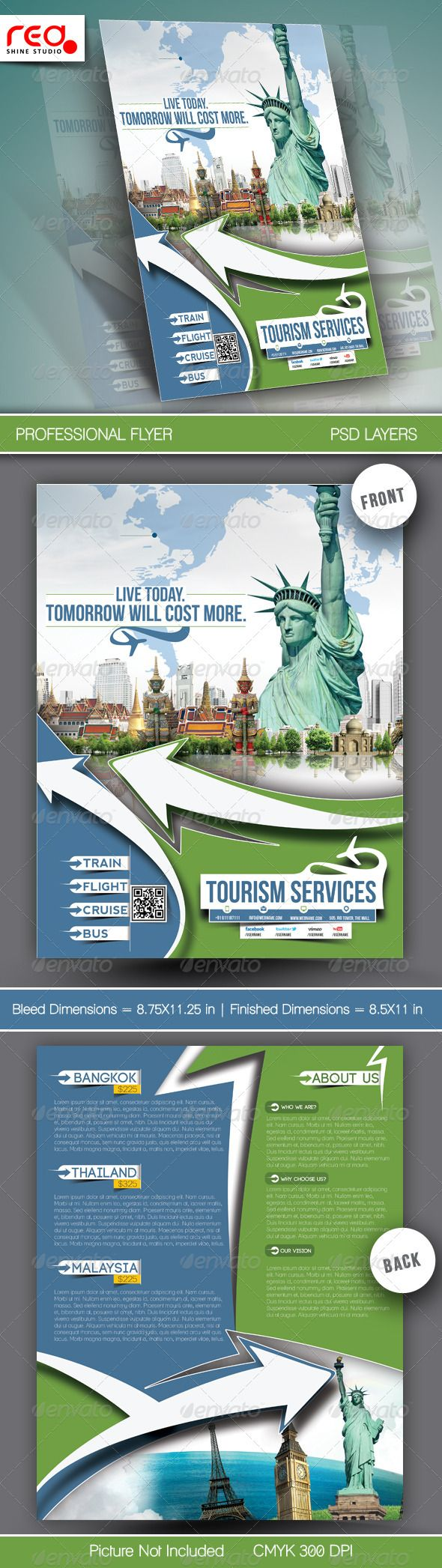 Travel Tours Flyer Template 290 best Travel