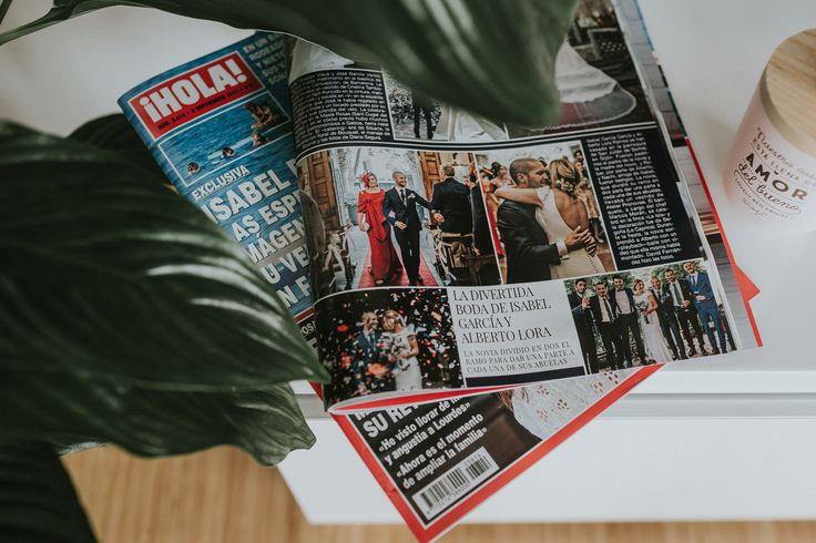 """Hoy en la revista Hola , la boda de Isa y Alberto Lora en la finca """"La Isla"""".  Aún sin tiempo para asimilarlo y metido de lleno en mi trabajo, esta mañana me han avisado que aparezco una vez más en la #revistahola."""