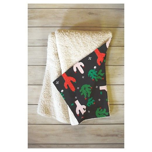 The Zoe Wodarz Cactus Christmas Sherpa Throw Blanket by DENY Designs may be the softest blanket ever! Featuring a printed plush silky smooth top side with a fuzzy warm underside, it's the perfect blanket to snuggle up with on the couch, bed, and anywhere in between! This Zoe Wodarz Cactus Christmas Sherpa Throw Blanket by DENY Designs is sure to be the talk of company with artwork provided by one of DENY Designs select artists. With each purchase of a DENY Designs product a portion of all...