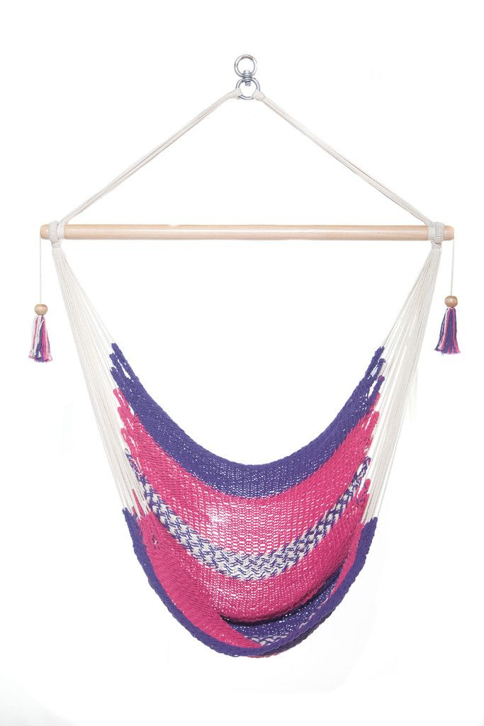 Pink and Purple Hanging Hammock | Best Swinging Chair  | 100% Diligently Handwoven