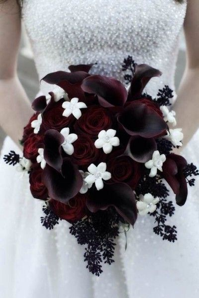 Dark Flowers - Fabulous and Fantastical Halloween Wedding Ideas - Photos