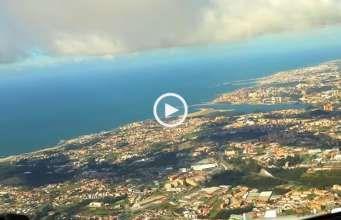 Fantástica aterragem no Porto vista do Cockpit