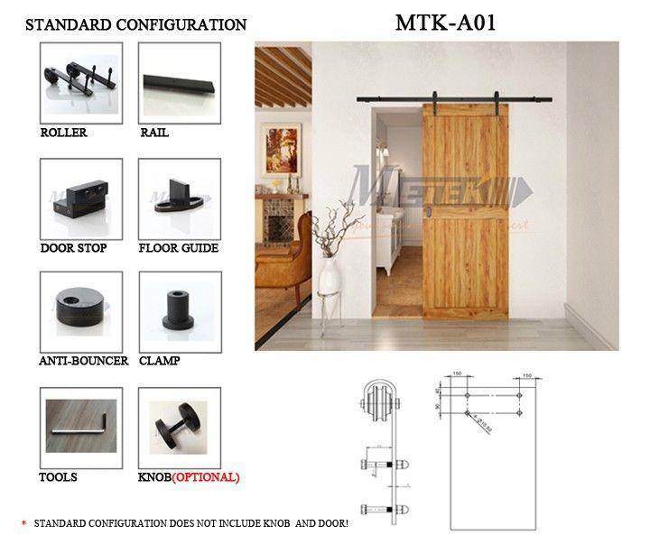 Aliexpress.com: Comprar 4.9FT / 6FT / pies de acero al carbono interior deslizante granero de madera puerta de entrada hardware de la puerta de la leva fiable proveedores en Acemetal sliding door hardware