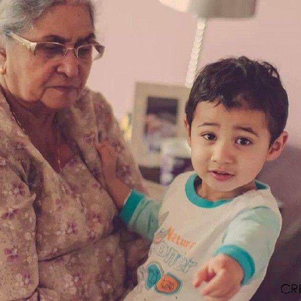 Rowan with #grandma