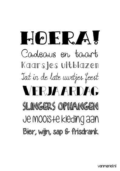 Betekenis #Verjaardag #Birthday - #Quotes - Buy it at www.vanmariel.nl - Poster € 3,95 - Card € 1,25