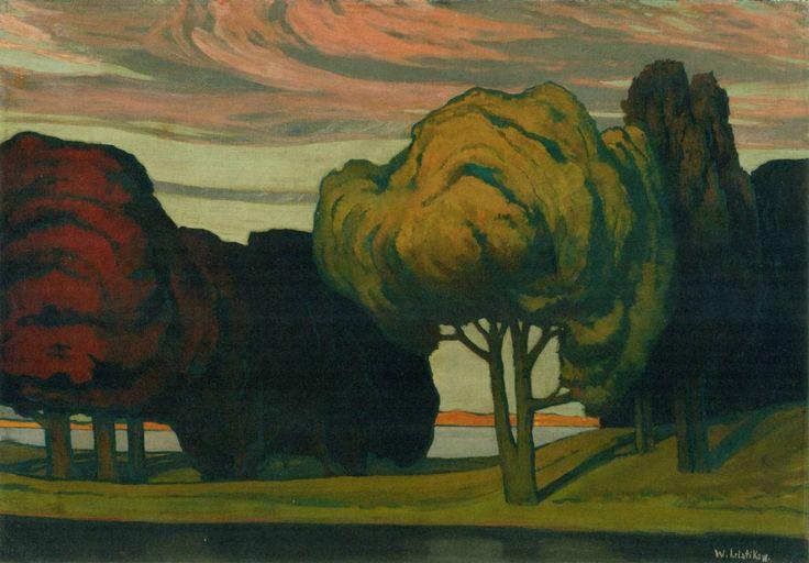 kundst: Walter Leistikow (Ger.1865-1908) Trees (Baüme) Oil on canvas (1895/99) Bröhan-Museum, Berlin