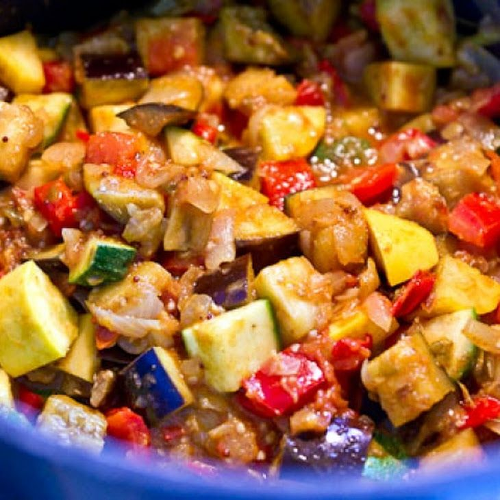 kitchen boss eggplant caponata%0A This Indian take on the French classic Ratatouille adds toasted cumin   black mustard and cloves to the vegetarian eggplant  squash and tomato stew