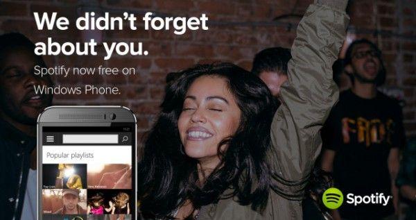Spotify para Windows Phone agora também é gratuito