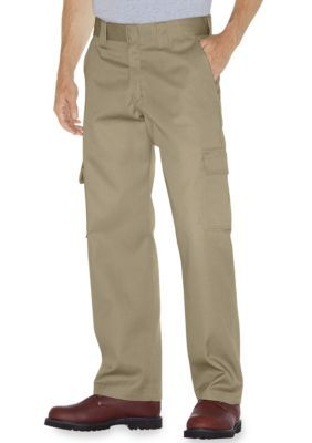 Dickies Khaki Relaxed-Fit Straight Leg Cargo Work Pants