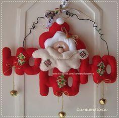 enfeite hohoho natal em feltro; christmas felt adorno pattern; navidad navidade…