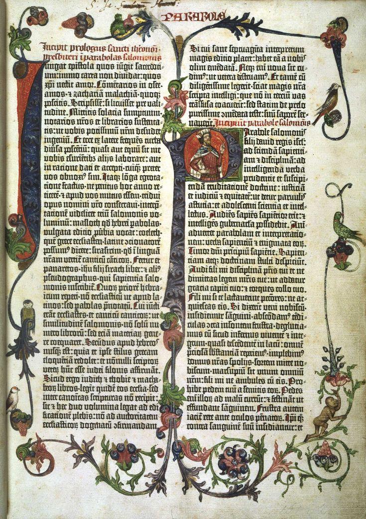 Gutenberg Bible. Earliest full- scale work printed using the Gutenberg printing press. 1455 British Library