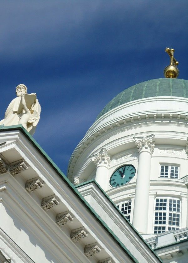 Helsinki Cathedral @displate metal prints. #church #cathedral #holy #sacred #statue #white #bluesky #dome #helsinki #helsingfors #finland #nordic #photo #photography #imagesoffinland #architecture