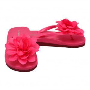 3e8bbfb2b80 ... Sandals by sophiasstyle. L`Amour Little Girls Fuchsia Organza Flower  Flip Flops 11-4 Kids