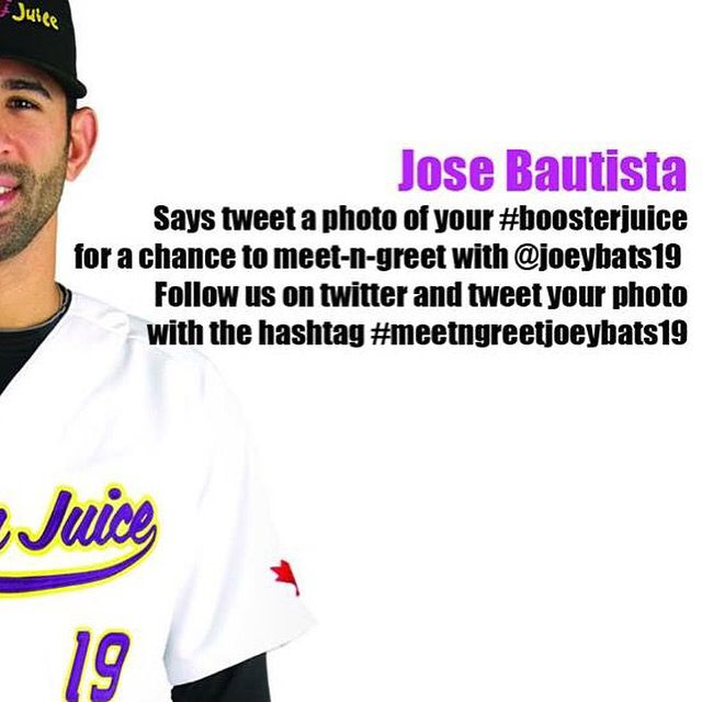 Follow us on Twitter, we have a great contest to meet Jose Bautista!