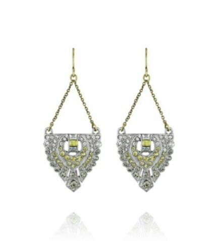 Art deco trapeze earrings. Chloe and Isabel