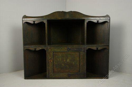Very Rare Heals Antique Oak Corner Cabinet - Antiques Atlas