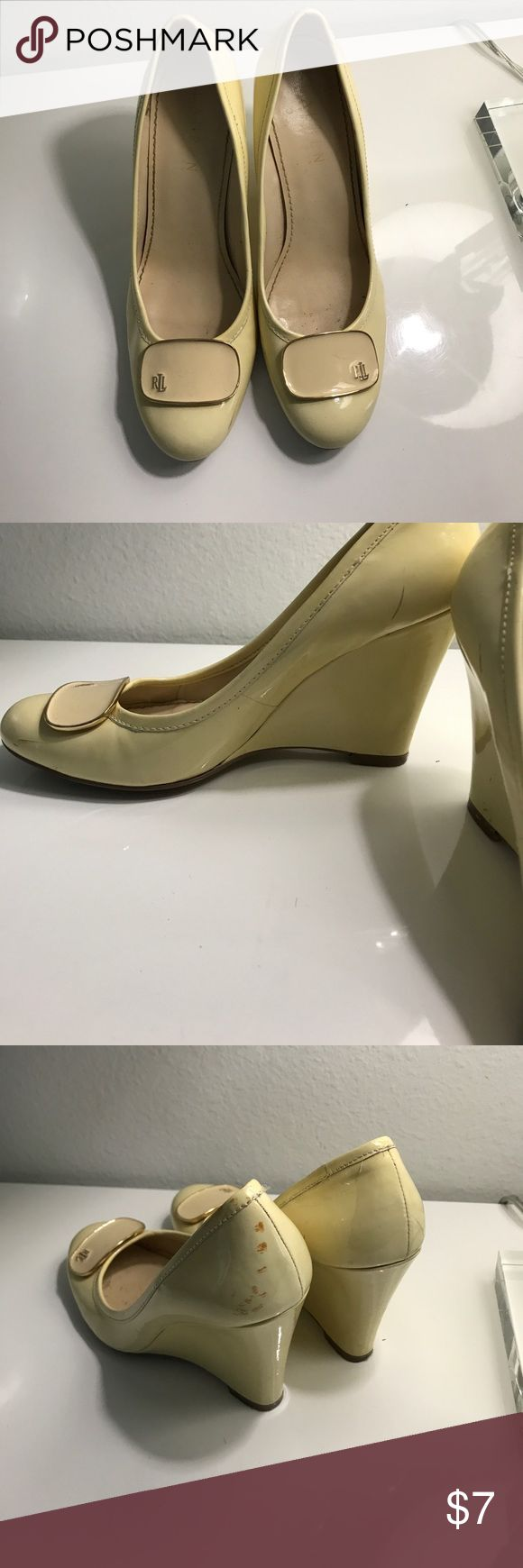 Ralp Lauren shoes Leather wedge shoes. Signs of wear. Lauren Ralph Lauren Shoes Wedges
