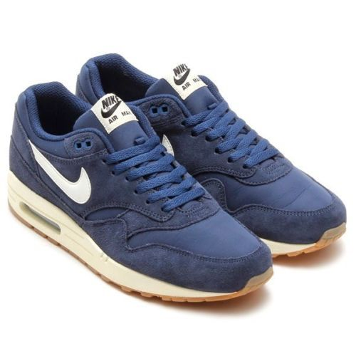 Nike 537383-411 Men's Air Max 1 Essential Midnight Navy Sail